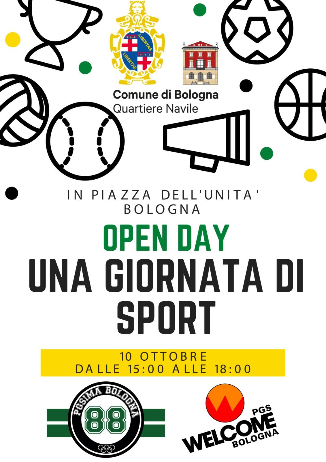 open day sabato 10 ottobre 2021